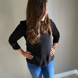Talbots Small Black Blouse